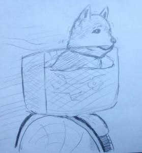 犬自転車1